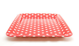 Empty dotted tray Royalty Free Stock Photos