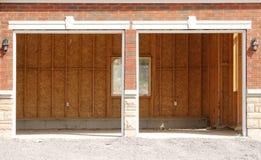 Empty double garage Royalty Free Stock Photo