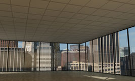 Empty downtown office Royalty Free Stock Photos