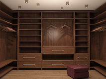 Empty dressing room, interior of a modern house. Royalty Free Stock Image