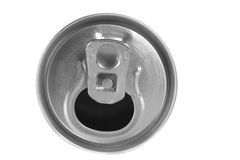 Empty drink can isolated Stock Image