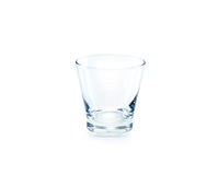 Empty drinking glass on white background Stock Photo