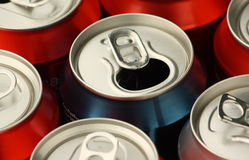 Empty Drinks Cans Royalty Free Stock Photos