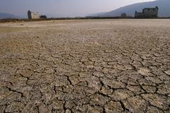 Empty and dry. The effect of global warming or climate change Royalty Free Stock Photo