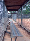 Empty dugout royalty free stock image