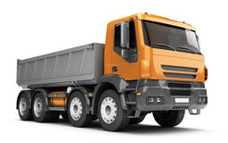 Empty Dump Truck. Perspective Royalty Free Stock Photo