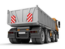 Empty Dump Truck. Rear view Stock Images