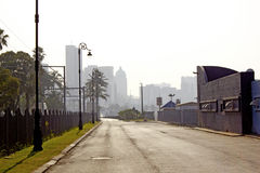 Empty Durban Street With Skyline Royalty Free Stock Photography