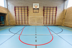Empty dutch gymnasium for school sports Stock Photography