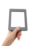 Empty e-reader and hand Royalty Free Stock Image