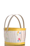An empty Easter basket against a white BG Stock Images