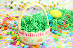 Empty Easter Basket waiting for Goodies Royalty Free Stock Photos