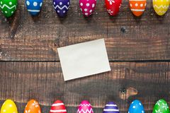 Empty easter card Stock Photo