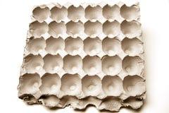 Empty egg carton. With rough texture Royalty Free Stock Photos