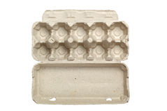 Empty egg carton Royalty Free Stock Image