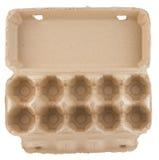 Empty Egg Carton Top View Isolated Stock Photos