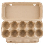 Empty egg carton top view isolated stock photos