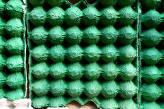 Empty egg carton use for cheap acoustic panel. In sound record studio royalty free stock photos