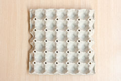 Empty egg panel. Empty egg paper panel take from top view Royalty Free Stock Image