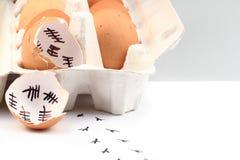 Empty egg shells Stock Image