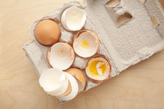 Empty eggs Royalty Free Stock Photos