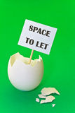 Empty eggshell - concept of estate rent Stock Images