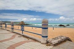 El Sardinero beach promenade, Santander, Spain Stock Photos