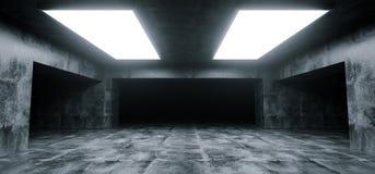 Empty Elegant Modern Grunge Dark Reflections Concrete Undergroun. Empty Elegant Modern Grunge Dark ReflectionsConcrete Underground Tunnel Room With Bright White royalty free illustration