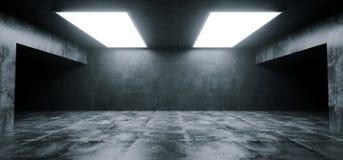 Empty Elegant Modern Grunge Dark Reflections Concrete Undergroun. D Tunnel Room With Bright White Lights Background Wallpaper 3D Rendering Illustration vector illustration