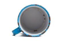 Empty enamel jug Stock Photos