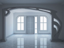 Empty entrance hall with decorative partition Stock Photo