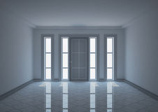 Empty entrance hall with narrow windows Royalty Free Stock Photography