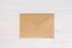 Empty envelope blank on white wooden background Stock Image