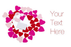 Empty envelope with hearts Royalty Free Stock Photo