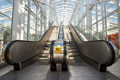 Empty escalator Royalty Free Stock Photos
