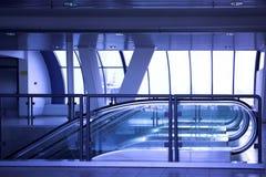 Empty escalator Stock Photos
