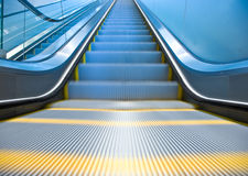 Empty escalator stock photography