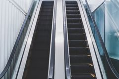 Empty escalator Royalty Free Stock Photo