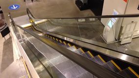 Empty escalator stock video footage