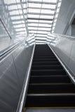 Empty escalator in modern train station. Royalty Free Stock Image