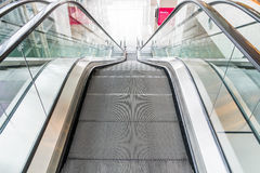 Empty escalator Stock Image