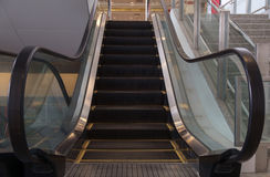 Empty escalator. Stock Photo