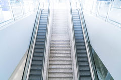 Empty escalator and stair Stock Photography