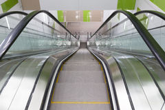 Empty escalator stairs Stock Images