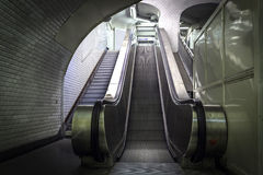 Empty escalator stairs Royalty Free Stock Photo