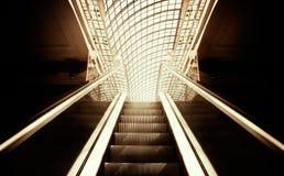 Empty escalator stairs stock photos