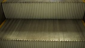 Empty escalator stairs stock video footage