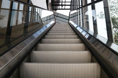 Empty escalator stairs Royalty Free Stock Photography