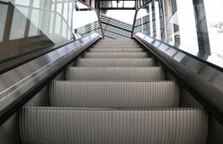 Empty escalator stairs Stock Photo