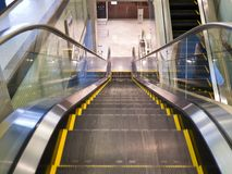 Empty escalator stairs Royalty Free Stock Image